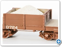 Styrene Centered Half Gon., 3/4 View. With Sand Load. Painted and Lettered for our Model Railroad.